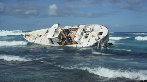 YWAM Ship Hawaii Aloha Grounded