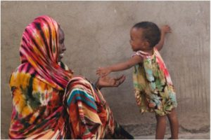 A mother and a child in the Horn of Africa