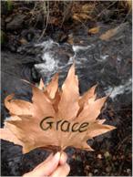Prayer leaf from YWAM in Colorado