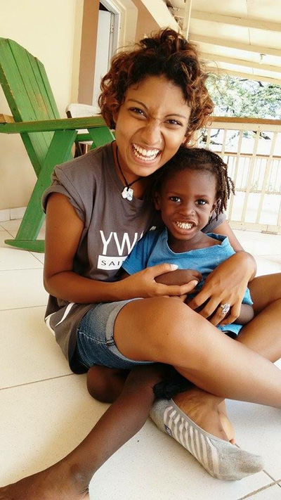 Sophie at an orphanage on her DTS outreach in Haiti