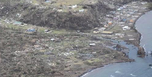 Fiji Cyclone Aerial