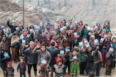 A village in the Himalayas receives Bibles