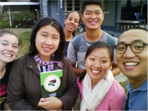 Staff from YWAM Chiang Rai, Thailand distribute Bibles