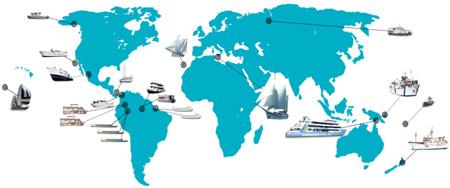 YWAM Ships Map
