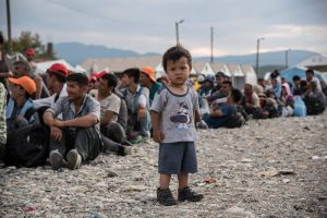 Refugee boy in Lesbos