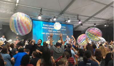 Celebrating the spheres at YWAM Together 2016
