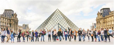 YWAM Paris DTS students at the Louvre
