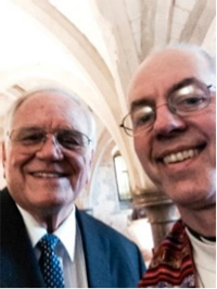 Loren Cunningham and Archbishop Justin Welby take a selfie